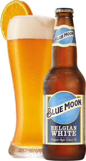 Blue Moon 330 Ml Bottle And Glass